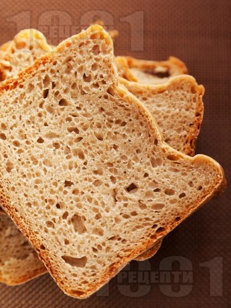 Ръжен пълнозърнест хляб за хлебопекарна - снимка на рецептата